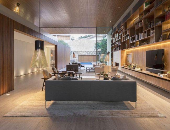 Indirekte Beleuchtung LED -wohnzimmer-fernseher-nische - led im wohnzimmer
