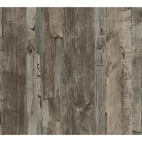 Penwell Wood 33 L X 21 W Wallpaper Roll In 2021 Wood Effect Wallpaper Wood Wallpaper Wood Paneling