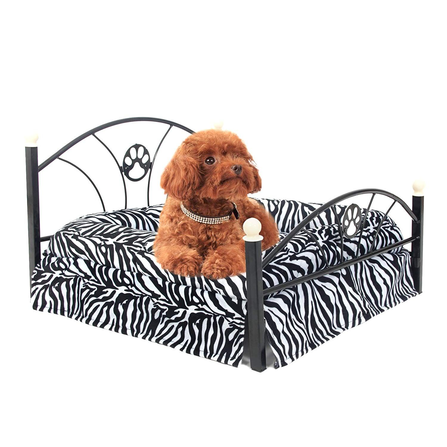 Pawz Road Metal Frame Pet Bed For Small And Medium Dogs With