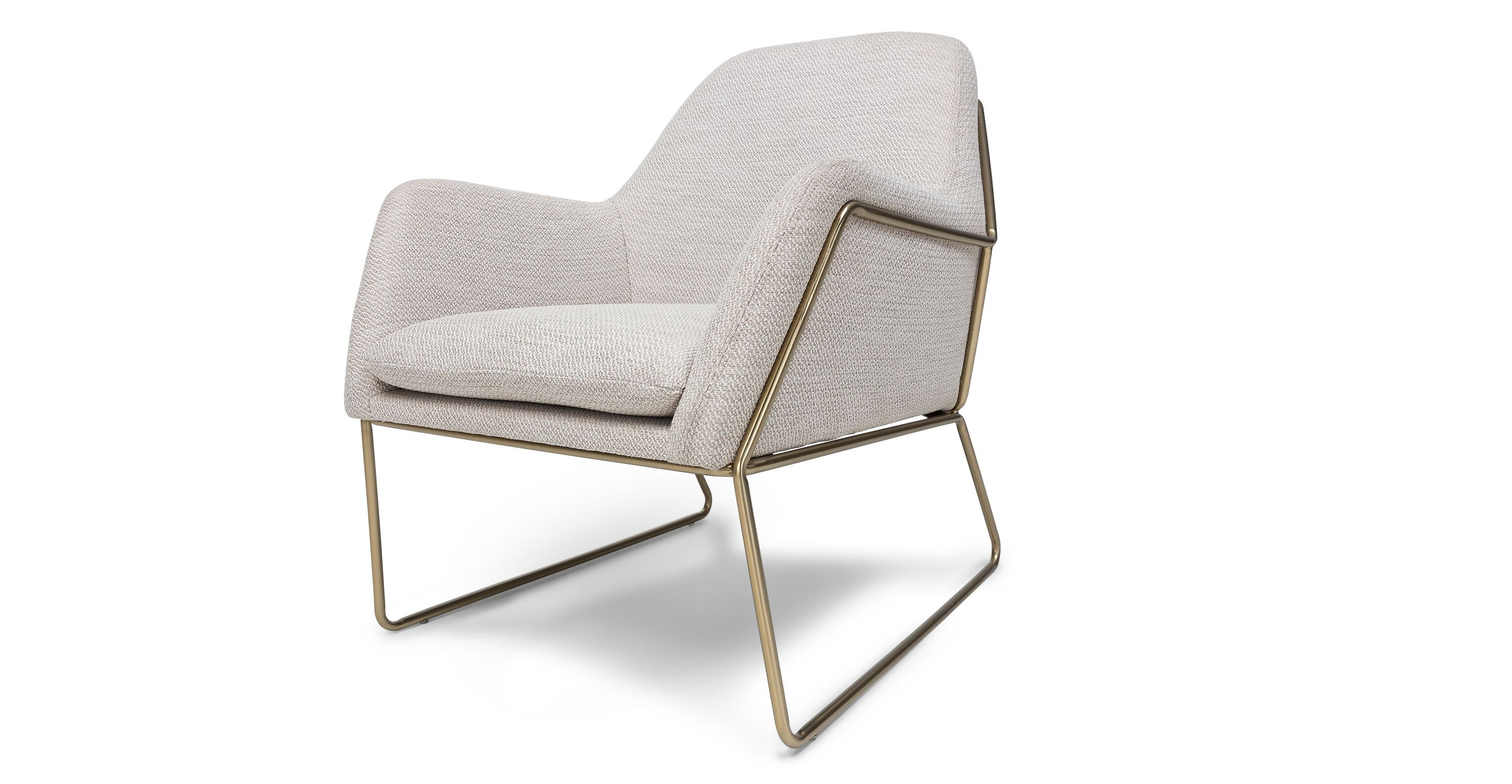 Cheap Scandinavian Furniture Online Ivory White Armchair Metal Legs Article Forma Contemporary