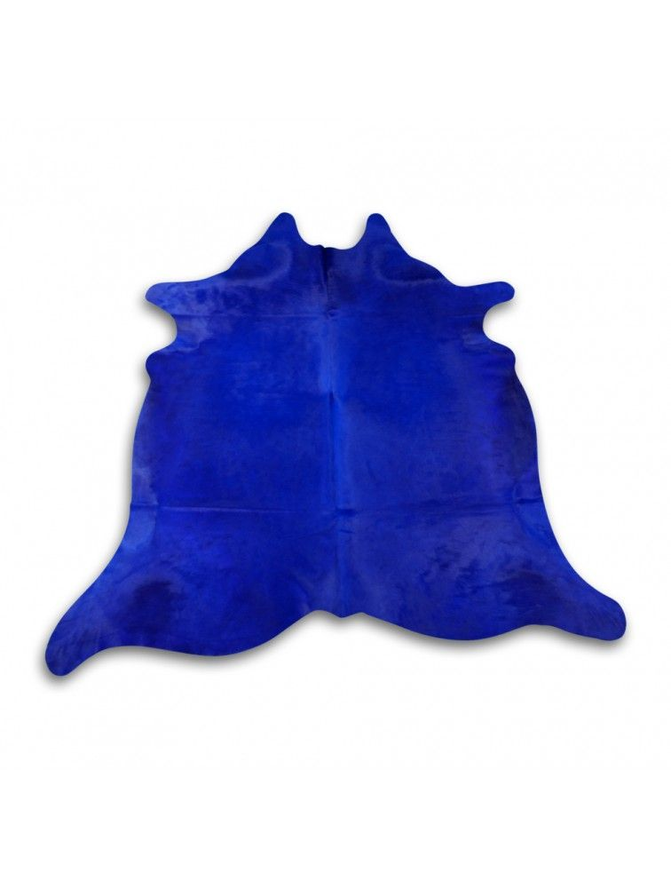 Dyed Blue Cowhide Rug Size 7 X 6 5 Blue Dyed Cow Hide Skin Rug
