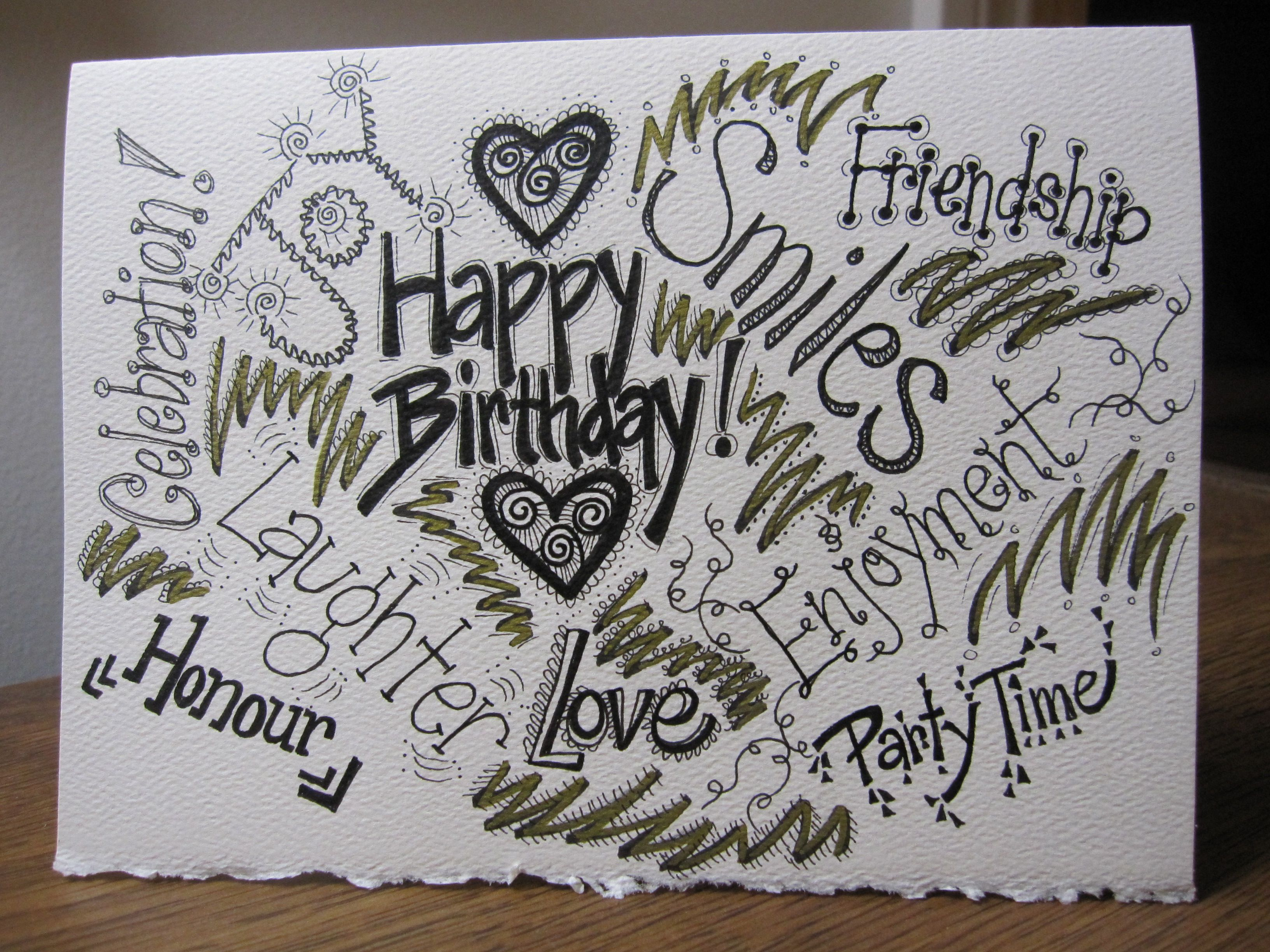 Happy Birthday Card With Images Birthday Cards Hand Drawn