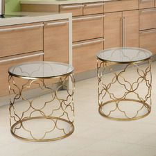 Coffee Table with Nested Stool