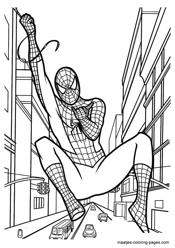 Spiderman Coloring Page Superhero Coloring Pages Spiderman Coloring Birthday Coloring Pages
