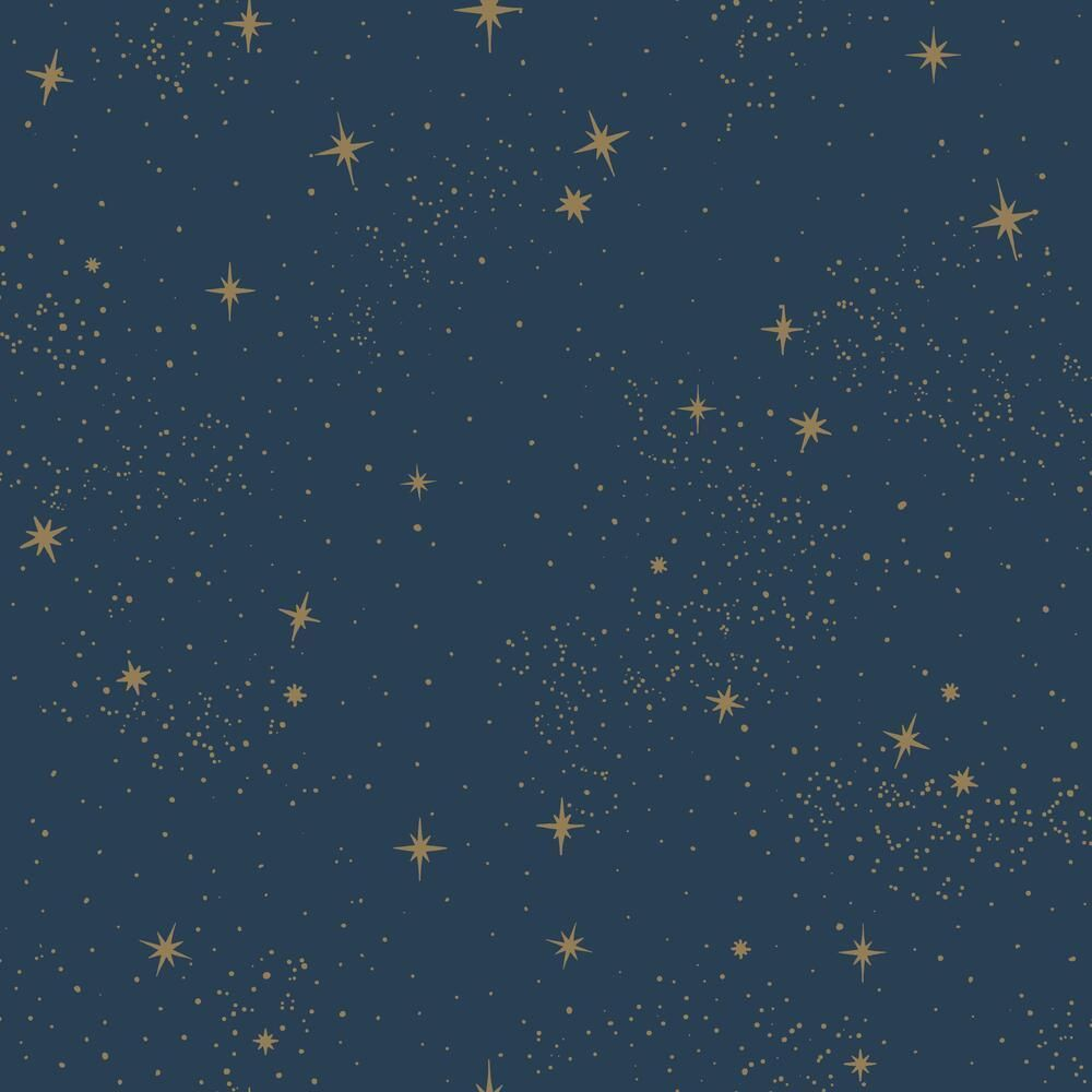 Upon a Star Peel and Stick Wallpaper - Roll / Navy