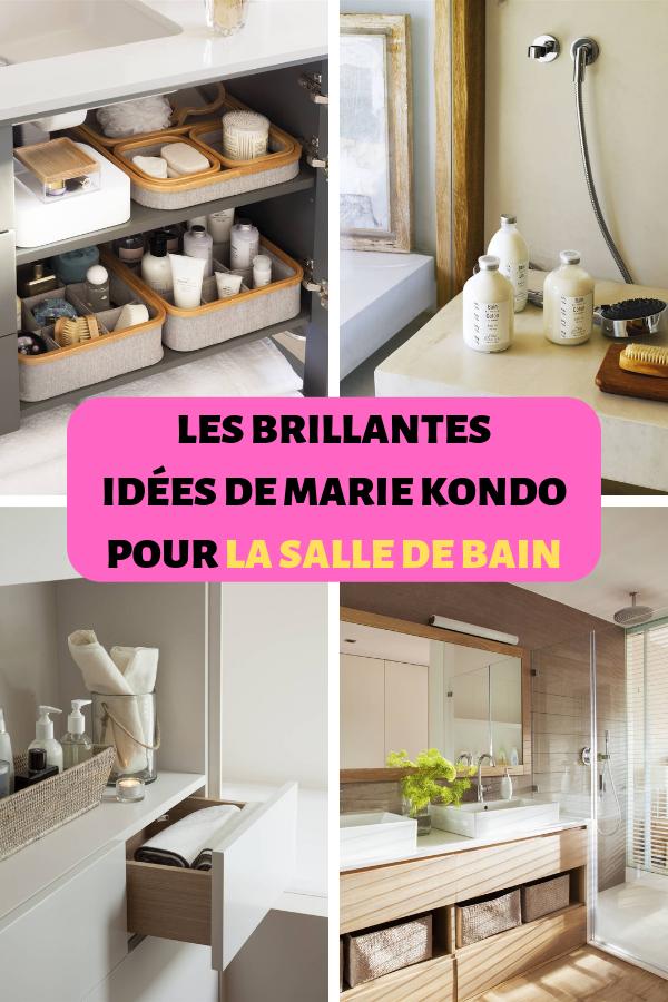 LES BRILLANTES IDEES DE MARIE KONDO POUR LA SALLE DE BAIN | Rangement étagère salle de bain ...