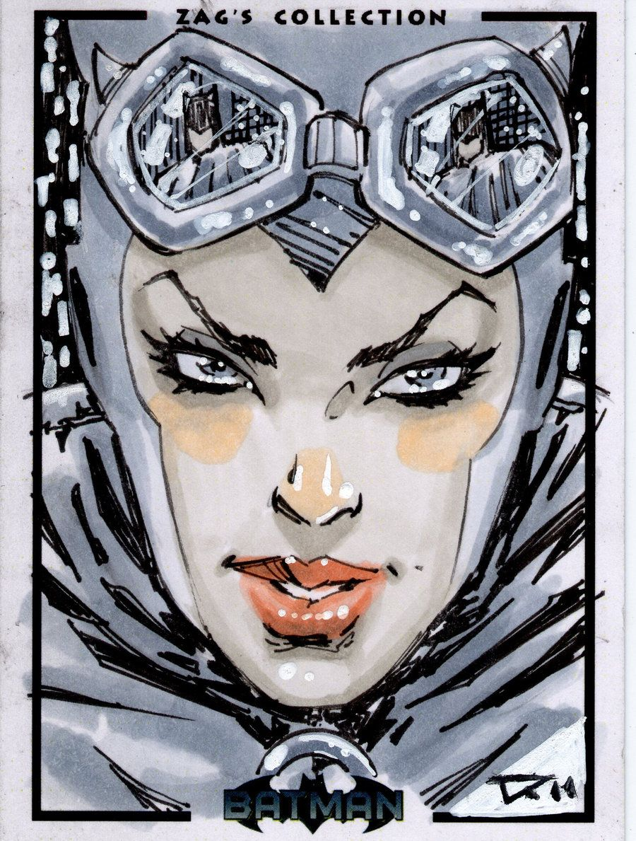 catwoman sketchcard by *qualano on deviantART