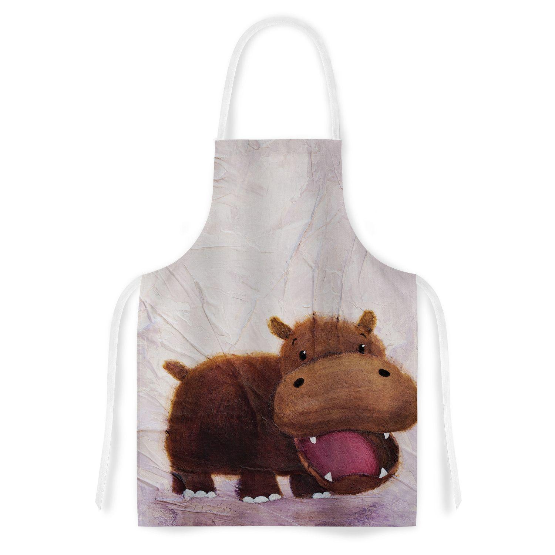 The Happy Hippo by Rachel Kokko Artistic Apron | I Love Hippos ...