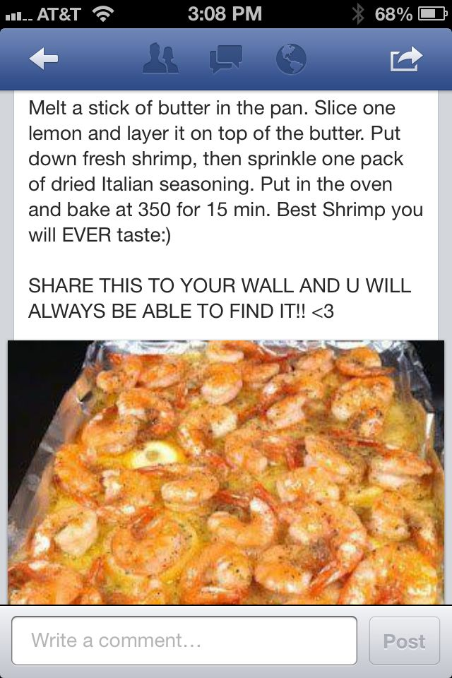 ITALIAN SEASONING SHRIMP (1 lb. shrimp.  Recipes on the photo)!  Butter overkill: I recommend cutting the butter back to 3/4 stick.  THIS IS EASY & VERY DELICIOUS!