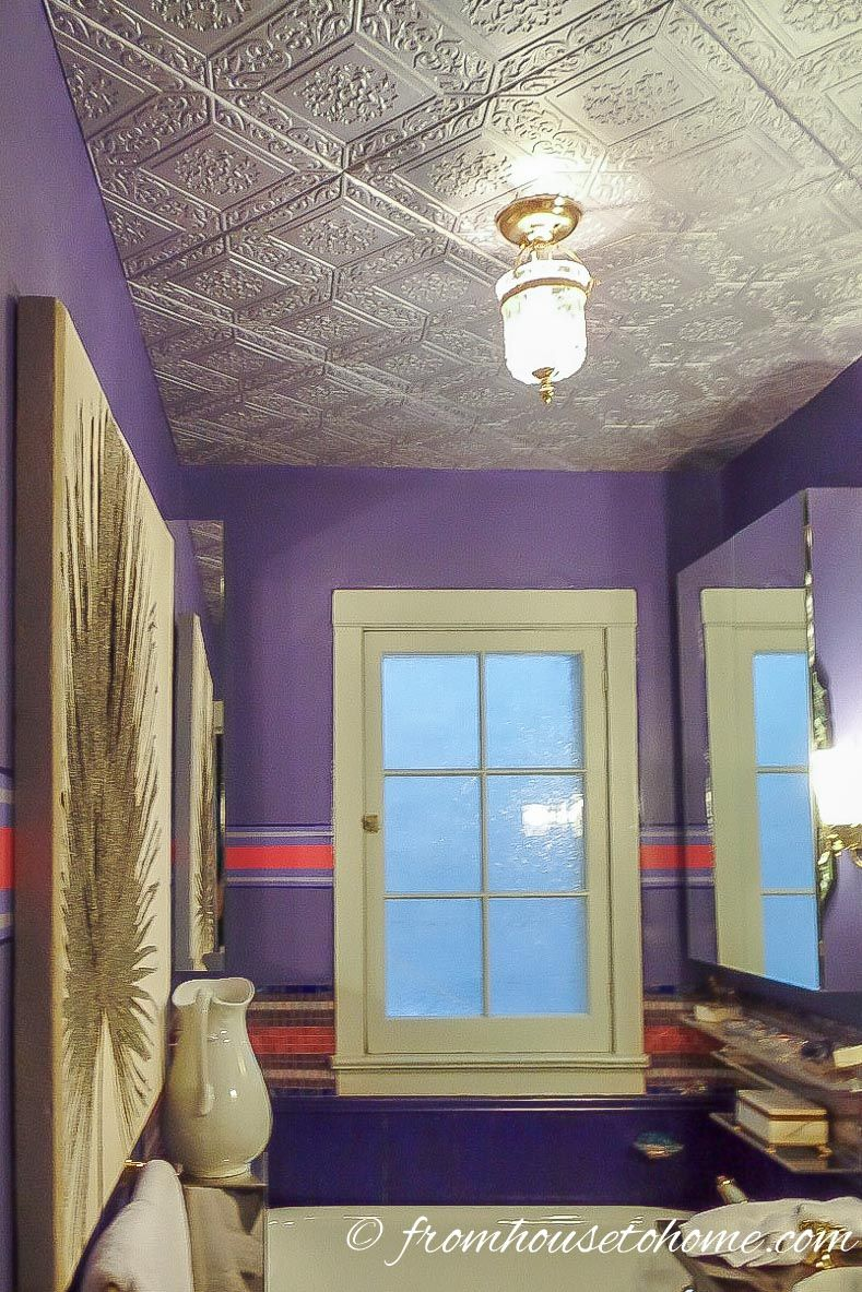 How to install faux tin ceiling tiles cover popcorn ceiling how to install faux tin ceiling tiles dailygadgetfo Choice Image