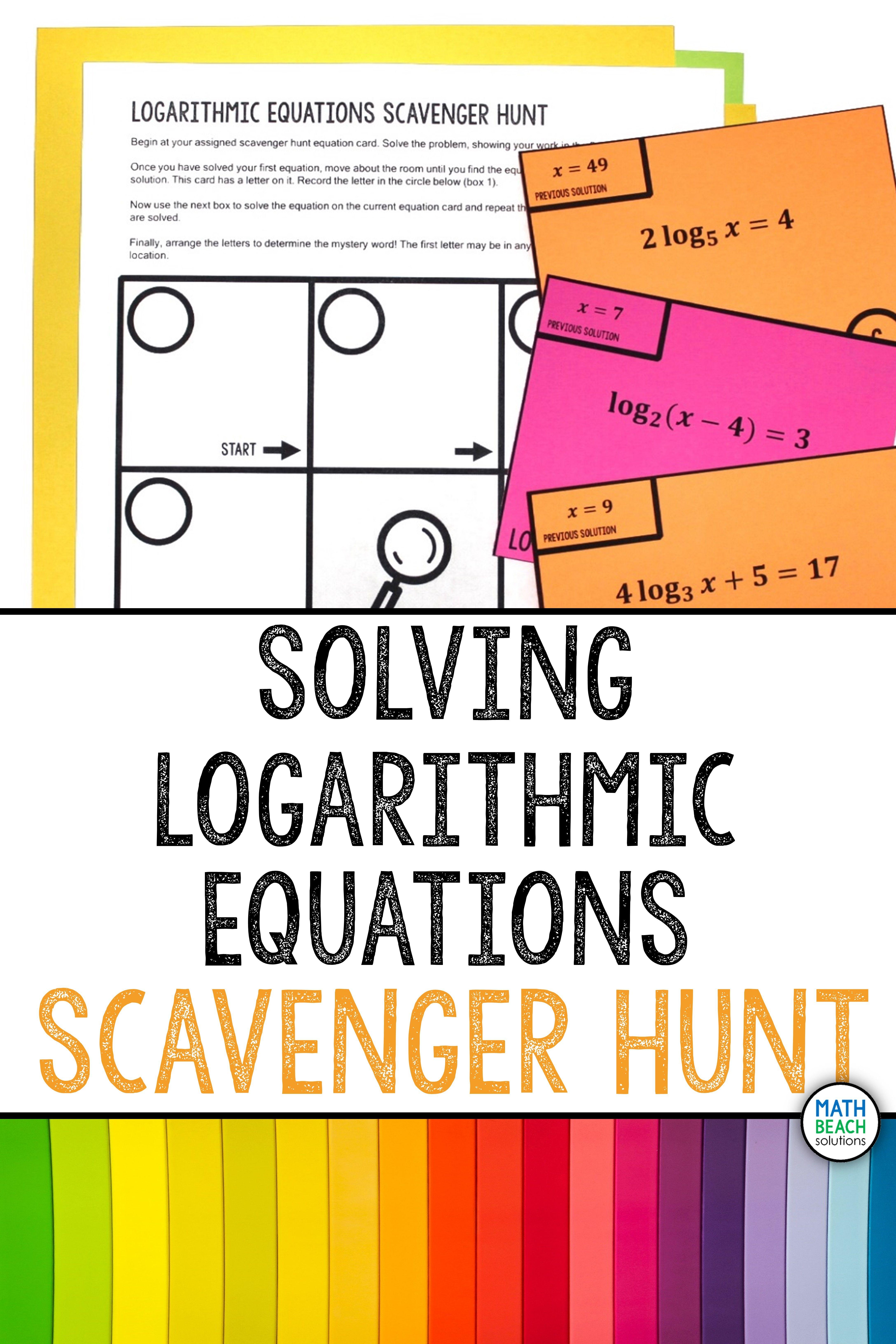 Pin on Algebra 2 Activities