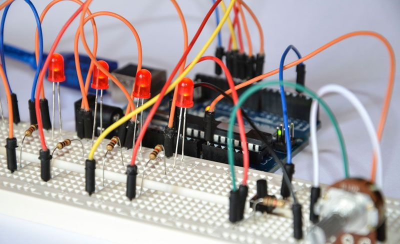 Breadboard For Prototyping Electronic Circuits