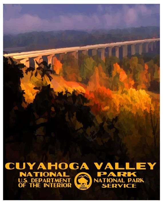Cuyahoga Valley National Park Poster Etsy National Park Posters Cuyahoga Valley National Park National Parks Photography