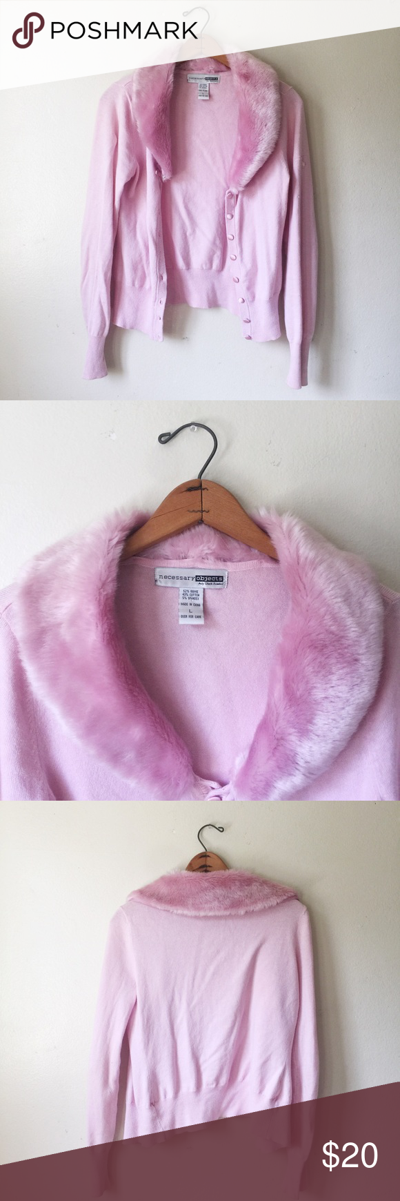 Baby pink faux fur sweater Adorable baby pink sweater. 💕says say ...