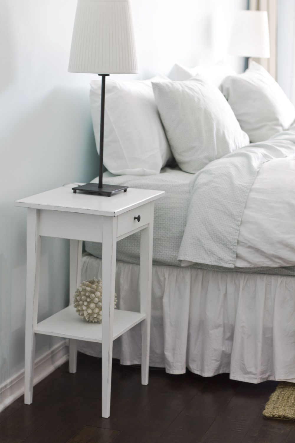 simple diy bedside nightstand table with storage and drawer for diy