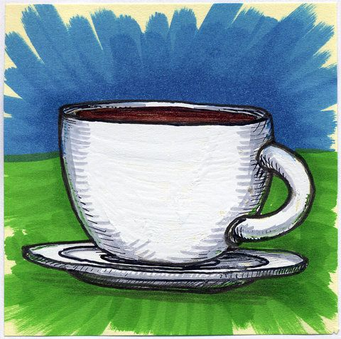 I drew you a plain white ceramic cup of coffee | Flickr - Photo Sharing!