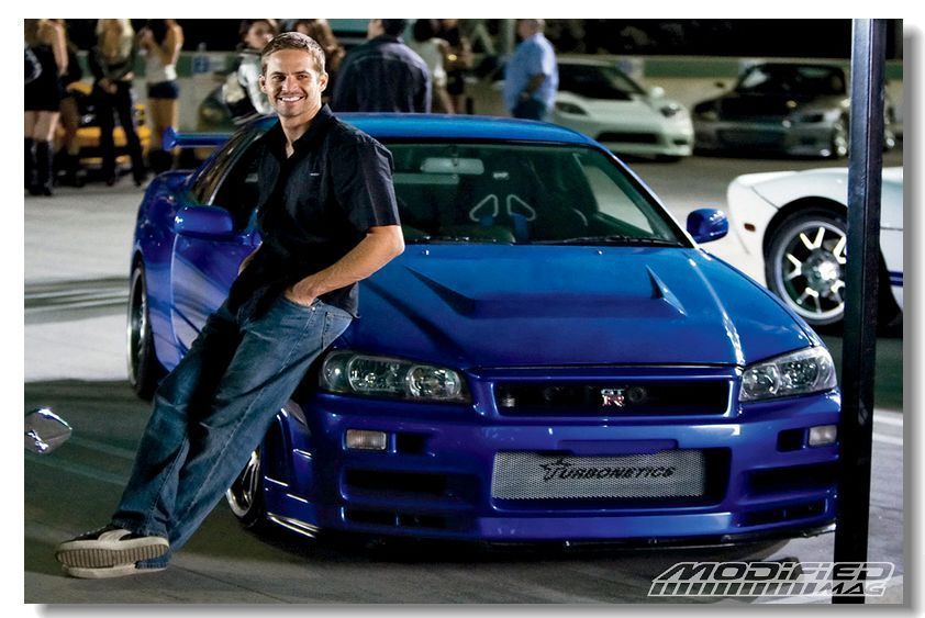 Free Shipping Custom Home Decoration Paul Walker Wallpaper Fast And Furious Poster Size 50x76cm Movie Fast 123 Paul Walker Car Paul Walker Nissan Gtr Skyline