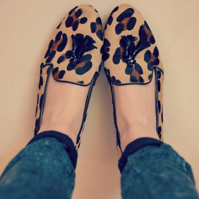 Loafers in cavallino in stampa animalier