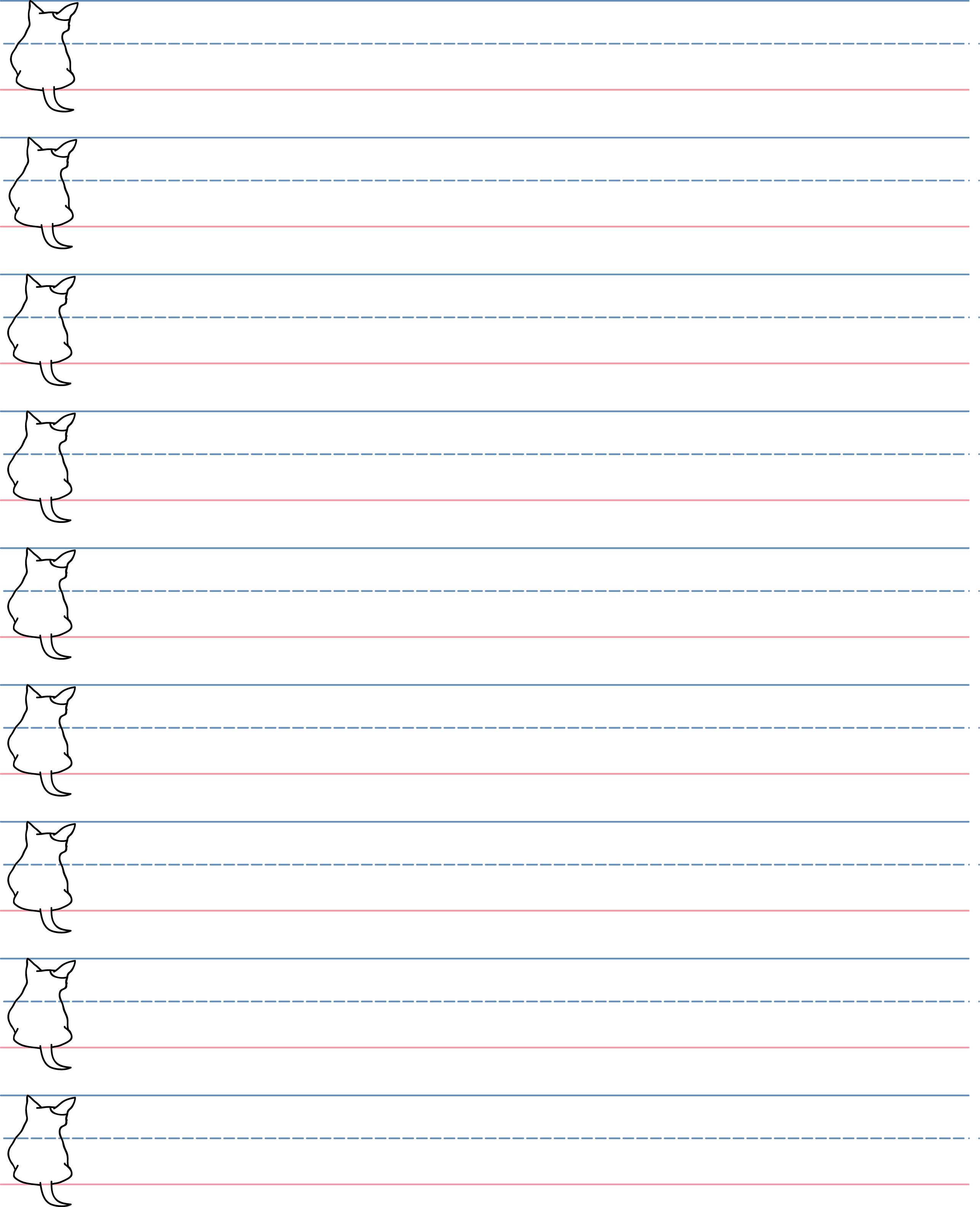 Blank Penmanship Sheet Handwriting Sheet