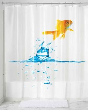 Finn Goldfish Peva Shower Curtain Vinyl Shower Curtains