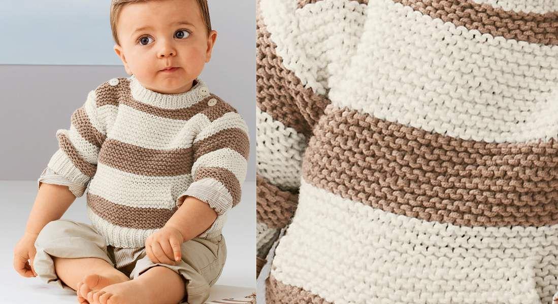 Tricot : tous nos modèles pour bébé - Prima.fr | Tricot, Pull tricot bebe, Layette