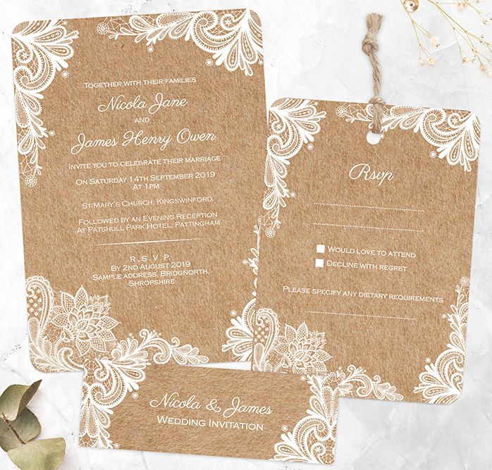 Pin Di Wedding Invitations Diy
