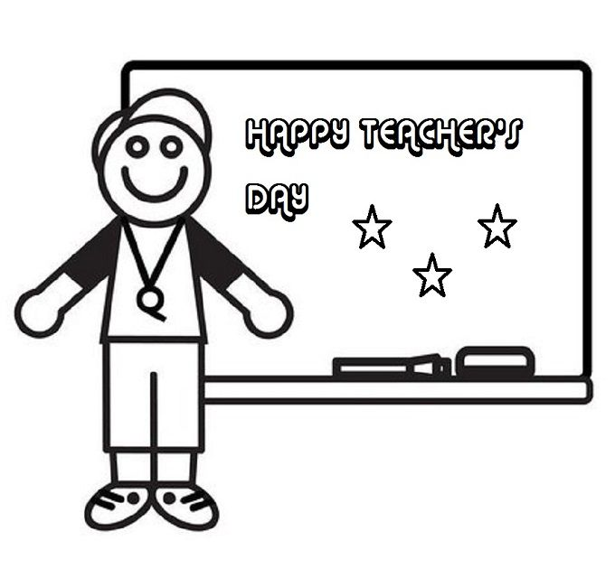 happy teachers day coloring pages | Education | Pinterest