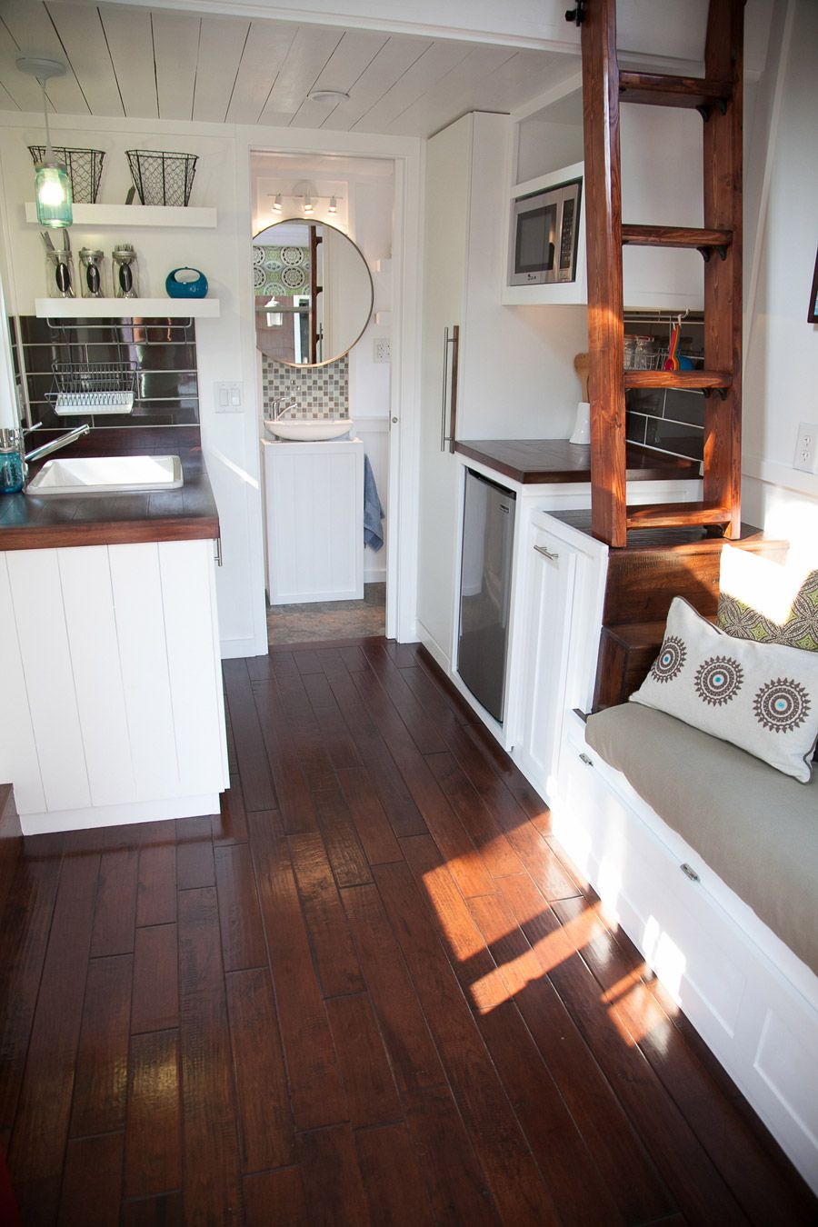 A Square Feet Lofted Tiny House On Wheels In Omaha Nebraska