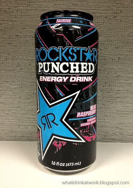 Rockstar Punched Blue Raspberry Energy Drink Rockstar Energy