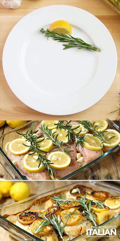 Rosemary Lemon Roasted Chicken Breasts
