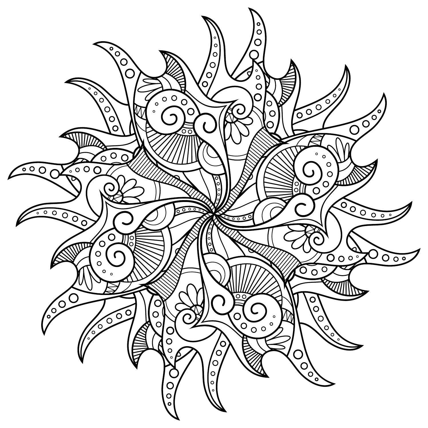 Amzinoji mandala desen pinterest coloriage mandala ve coloriage zen - Mandala adulte ...