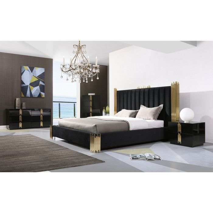 Modrest Token Modern Black & Gold Bedroom Set in 2019 | All ...