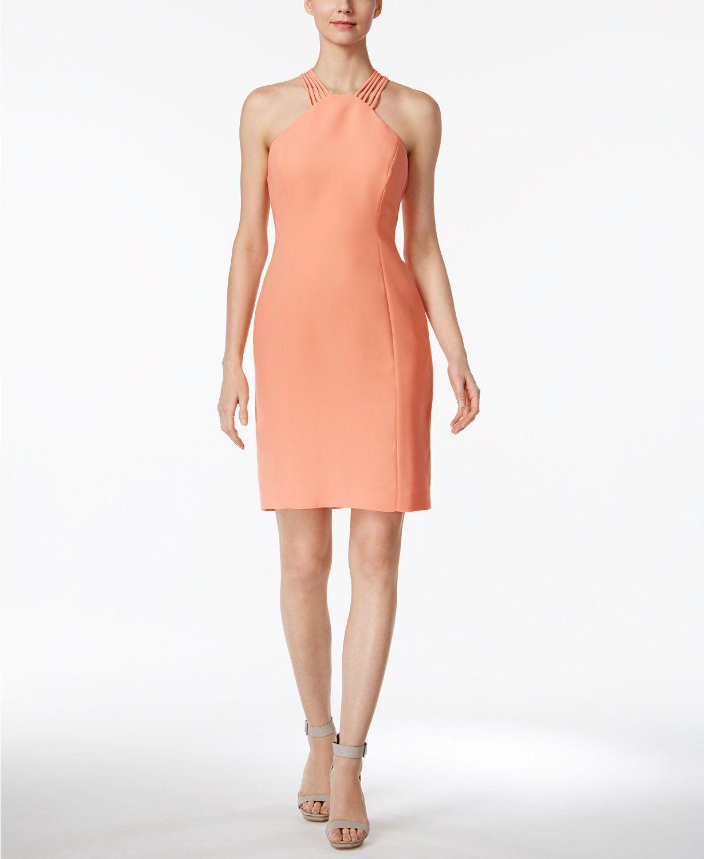 52be2bde Calvin Klein Halter Sheath Dress   macys.com   Macy's   Halte durch