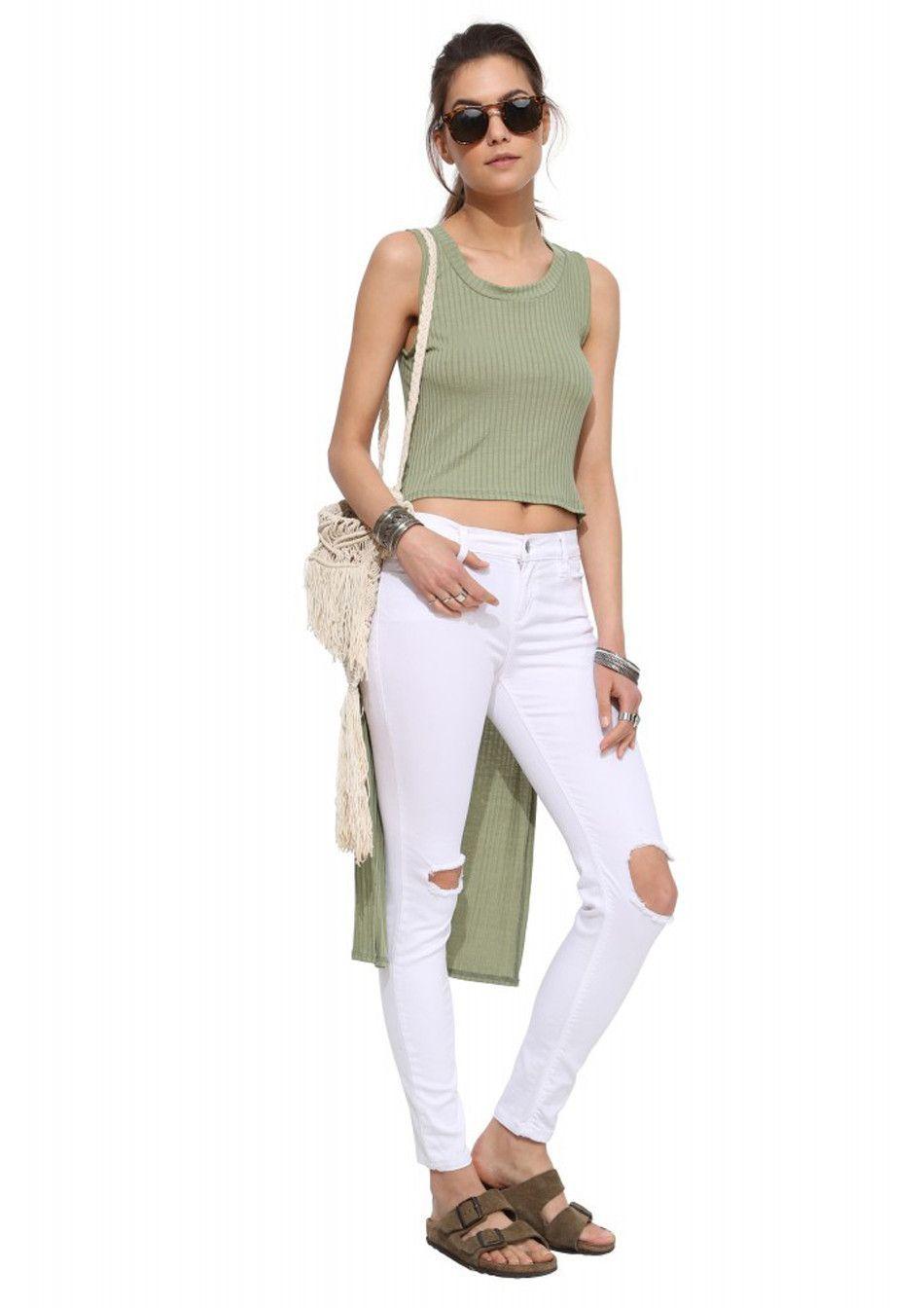 1175c6b0a New fashion women t shirt sexy top tee front short back long tops  sleeveless sexy lo shi t shirt tank casual vest ZT1046