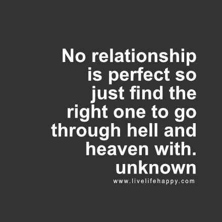 no relationship is perfect