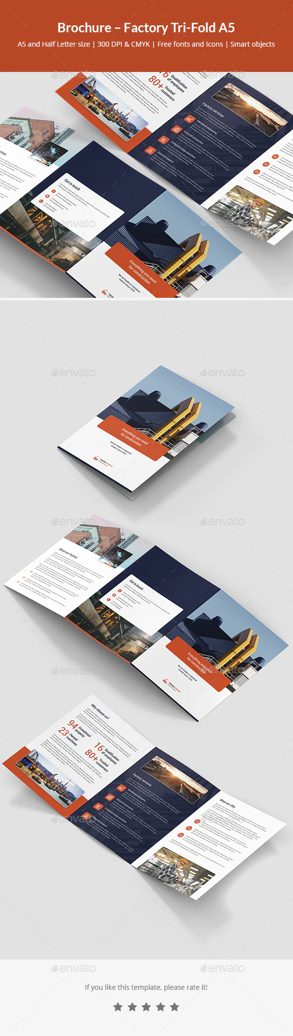 Brochure Factory Tri Fold A5 By Artbart Graphicriver Brochure Travel Brochure Template Color Photoshop