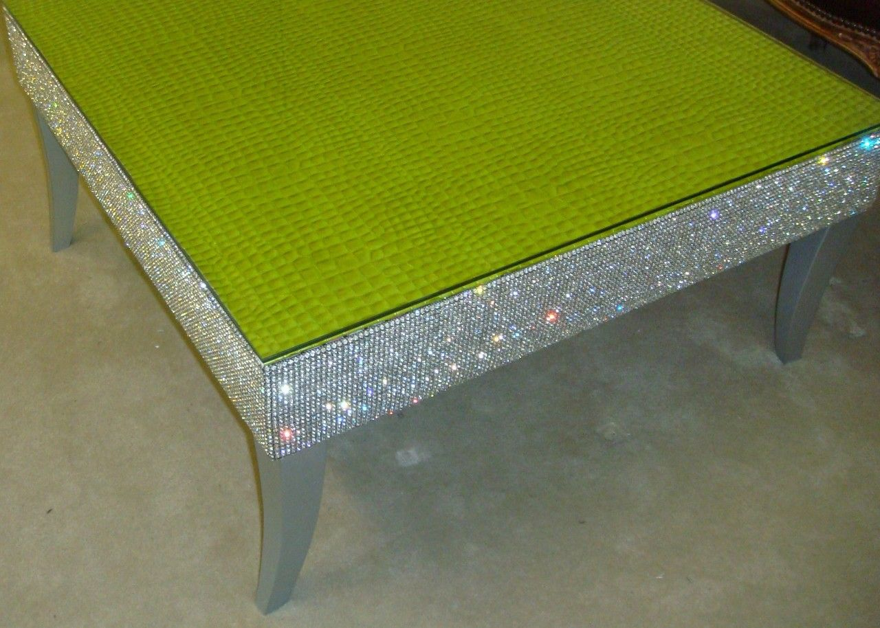 Best Belgravia Coffee Table Crock Faux Leather Bling Table 400 x 300