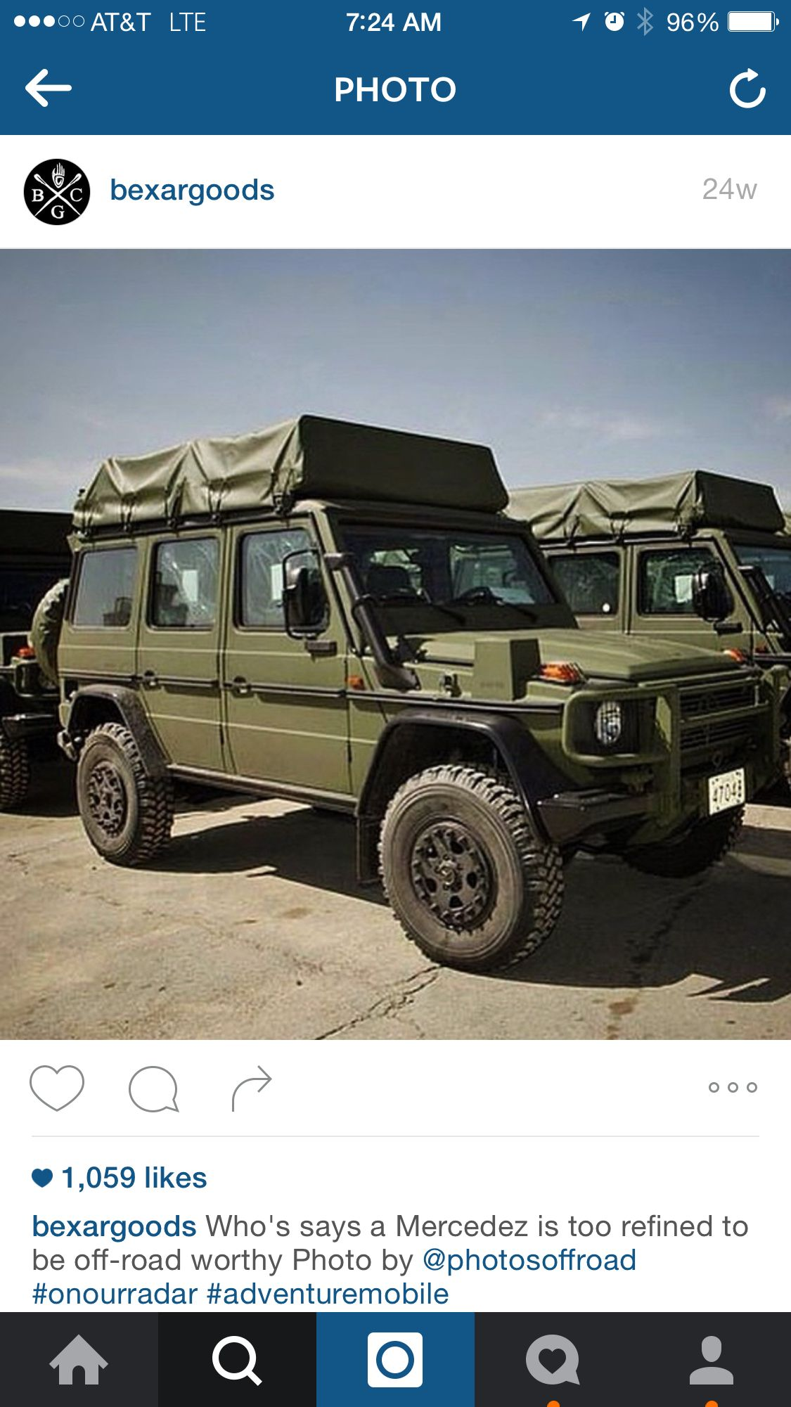 Mercedes off road OD green