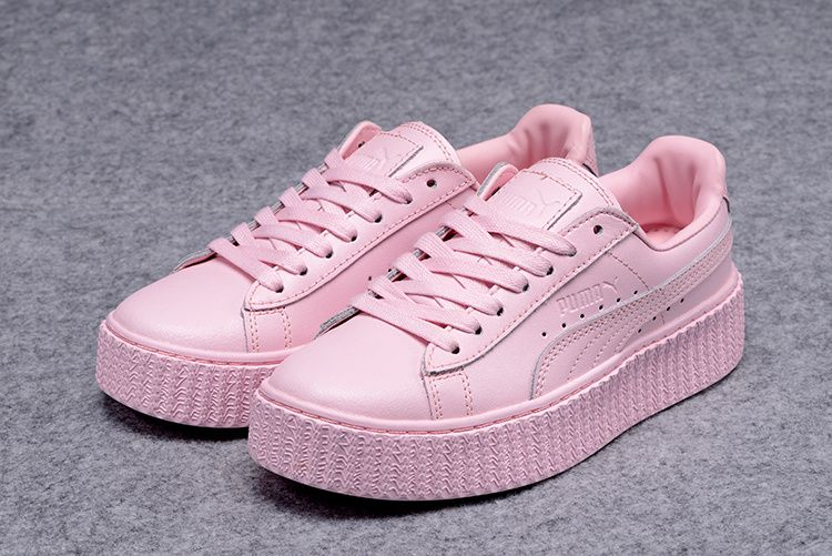 puma suede creepers rose