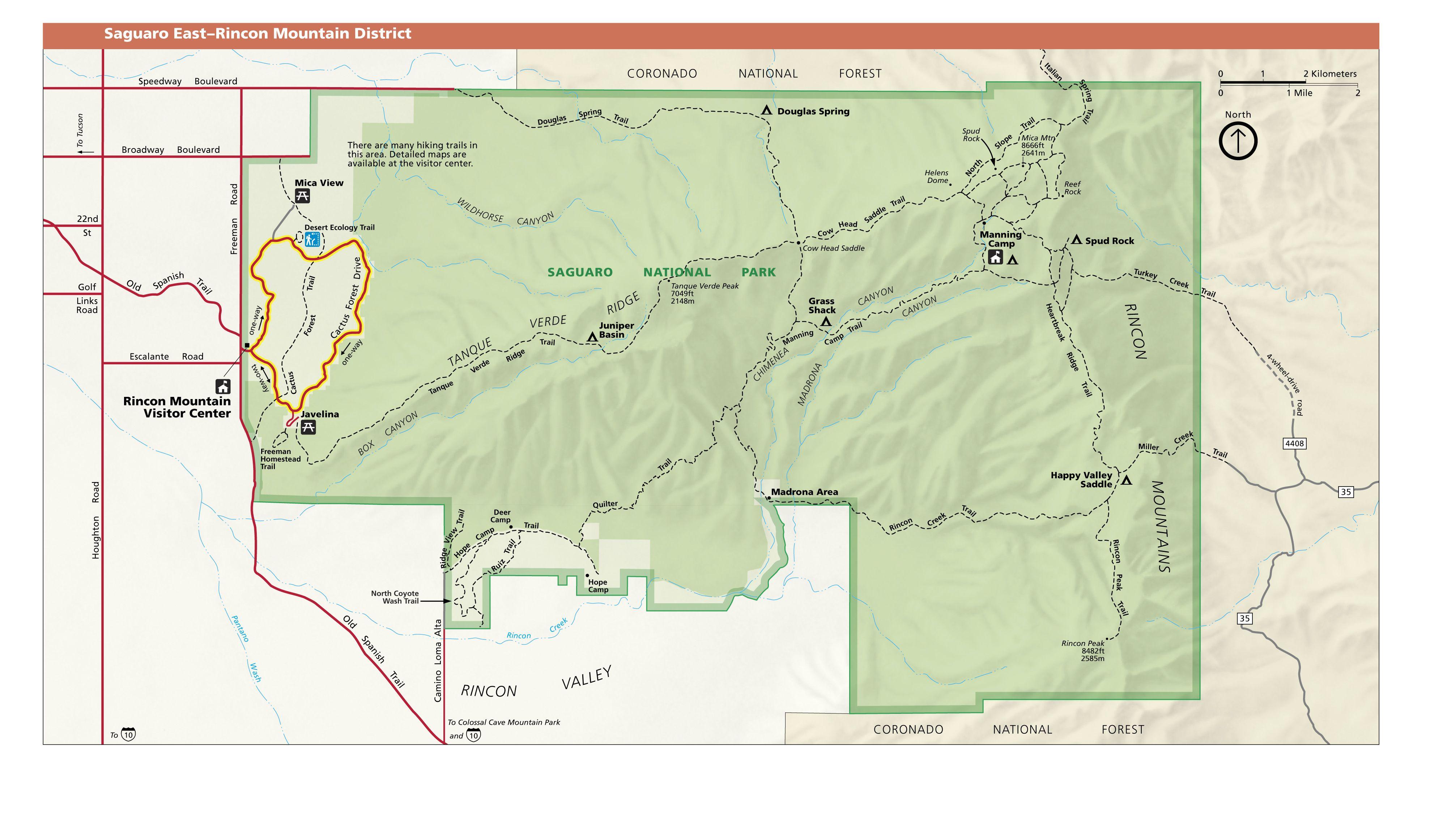 Map Of East Arizona.Saguaro Np East Arizona Maps North America Pinterest