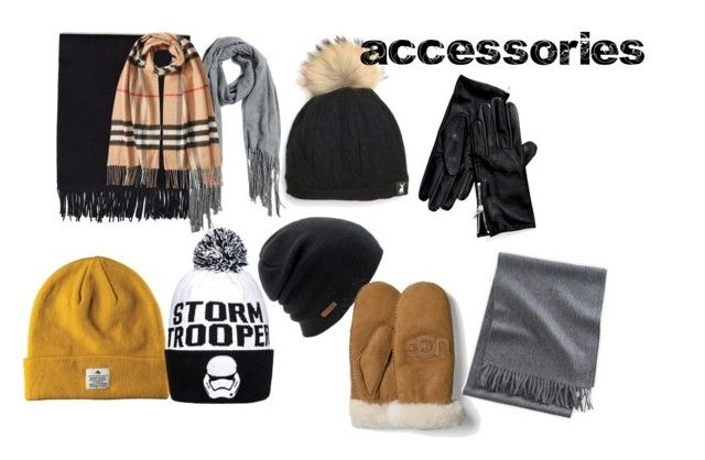 """accessories"" by ennu on Polyvore featuring Designers Remix, Acne Studios, Burberry, Tommy Hilfiger, Coal and UGG Australia"