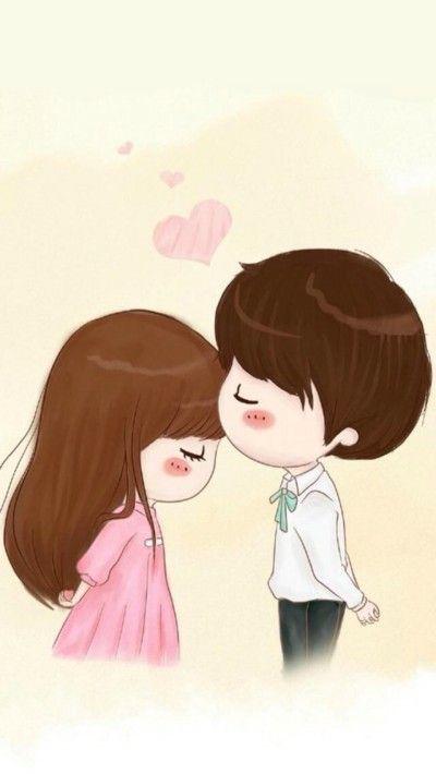 Pin By Rose On Iphone Cute Love Cartoons Cute Couple Cartoon Love Cartoon Couple