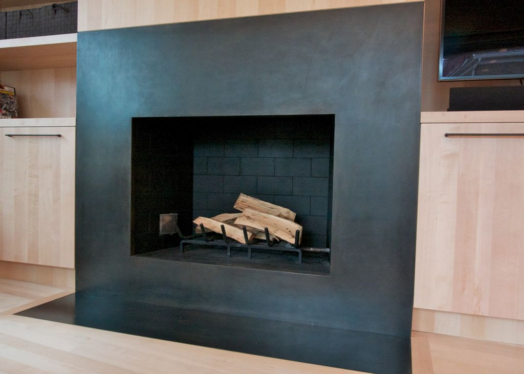 Modern fireplaces and Fireplace surrounds