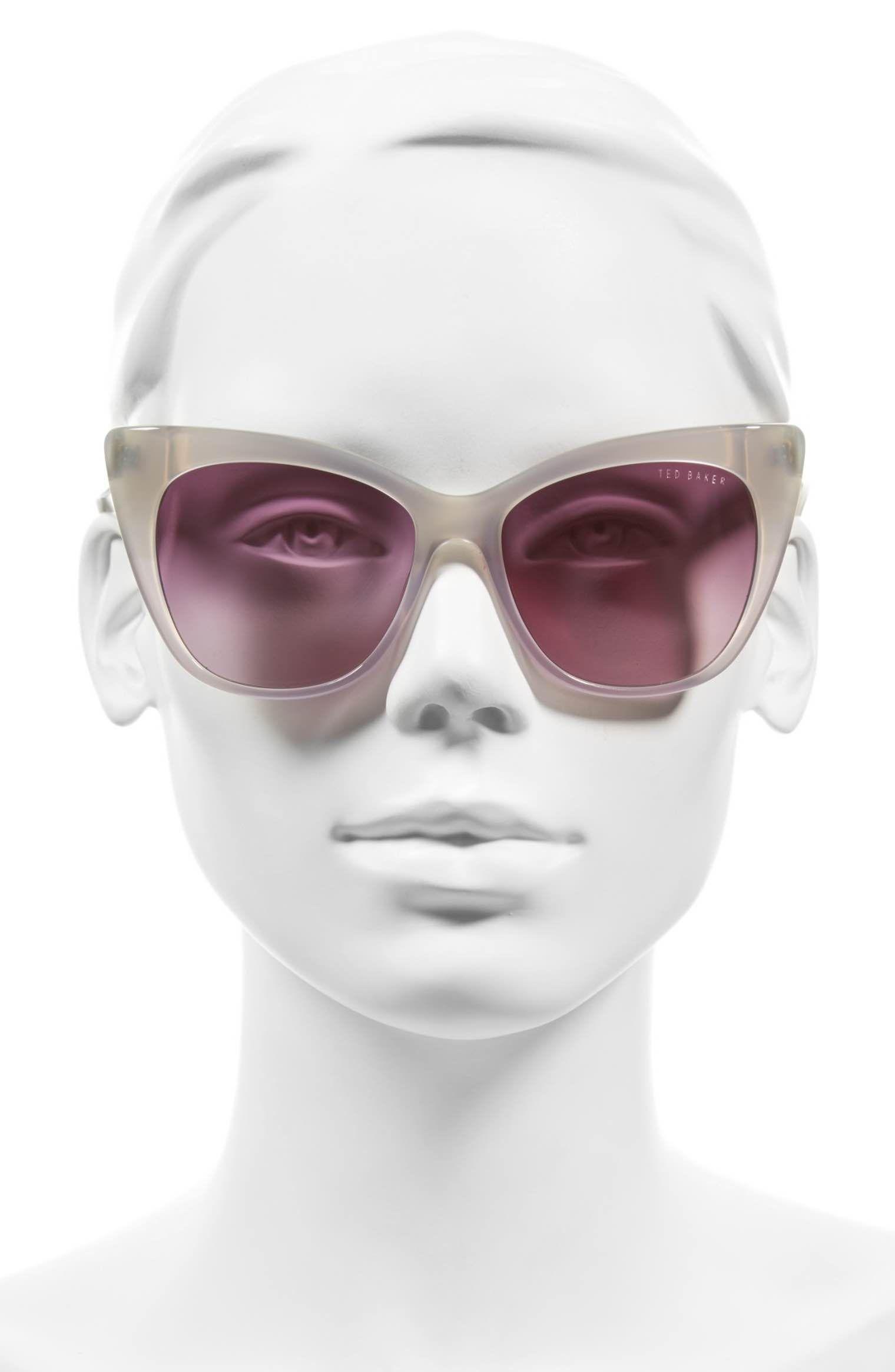 24d035e38f Main Image - Ted Baker London 54mm Cat Eye Sunglasses