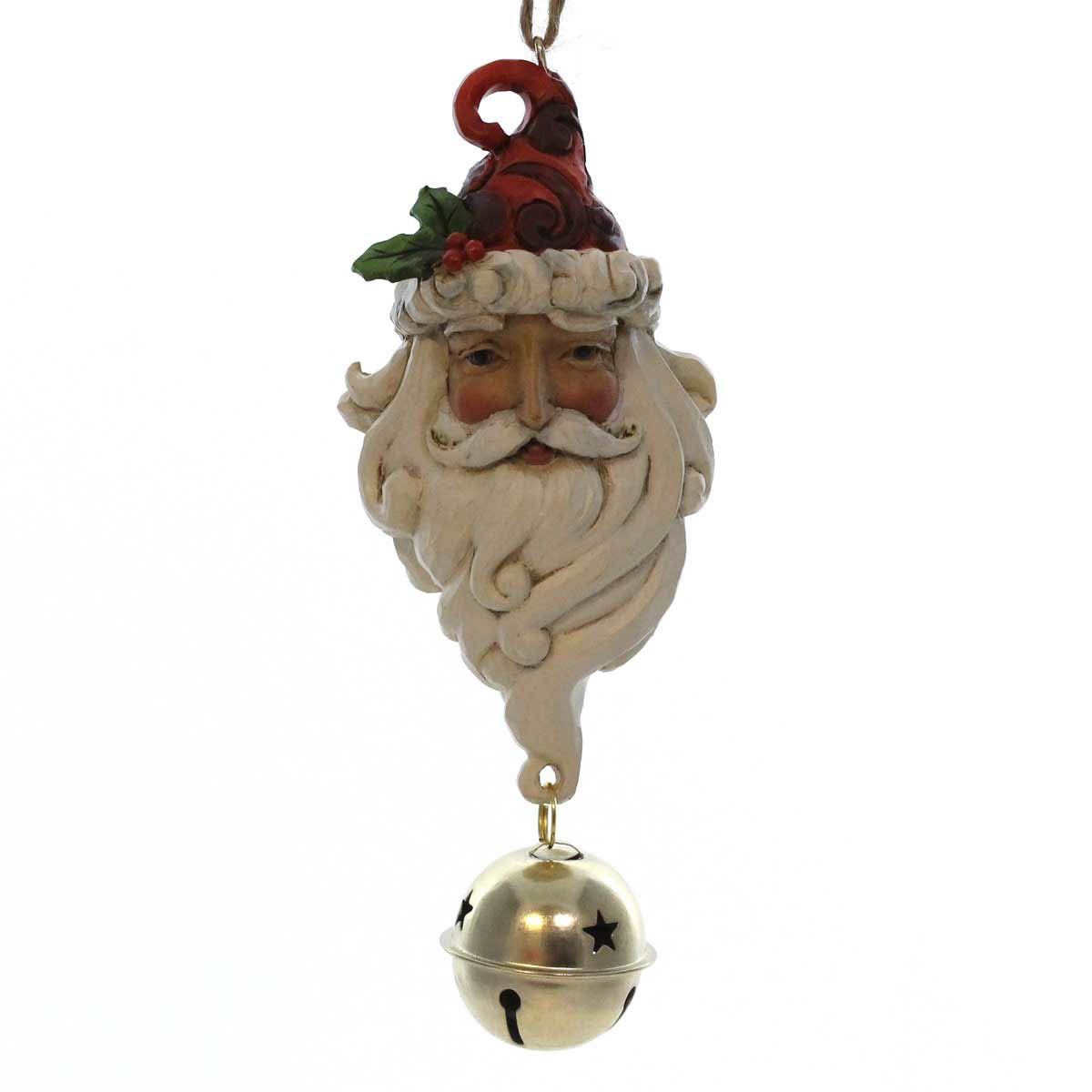 Santa Dangling Bell Ornament Resin Ornament