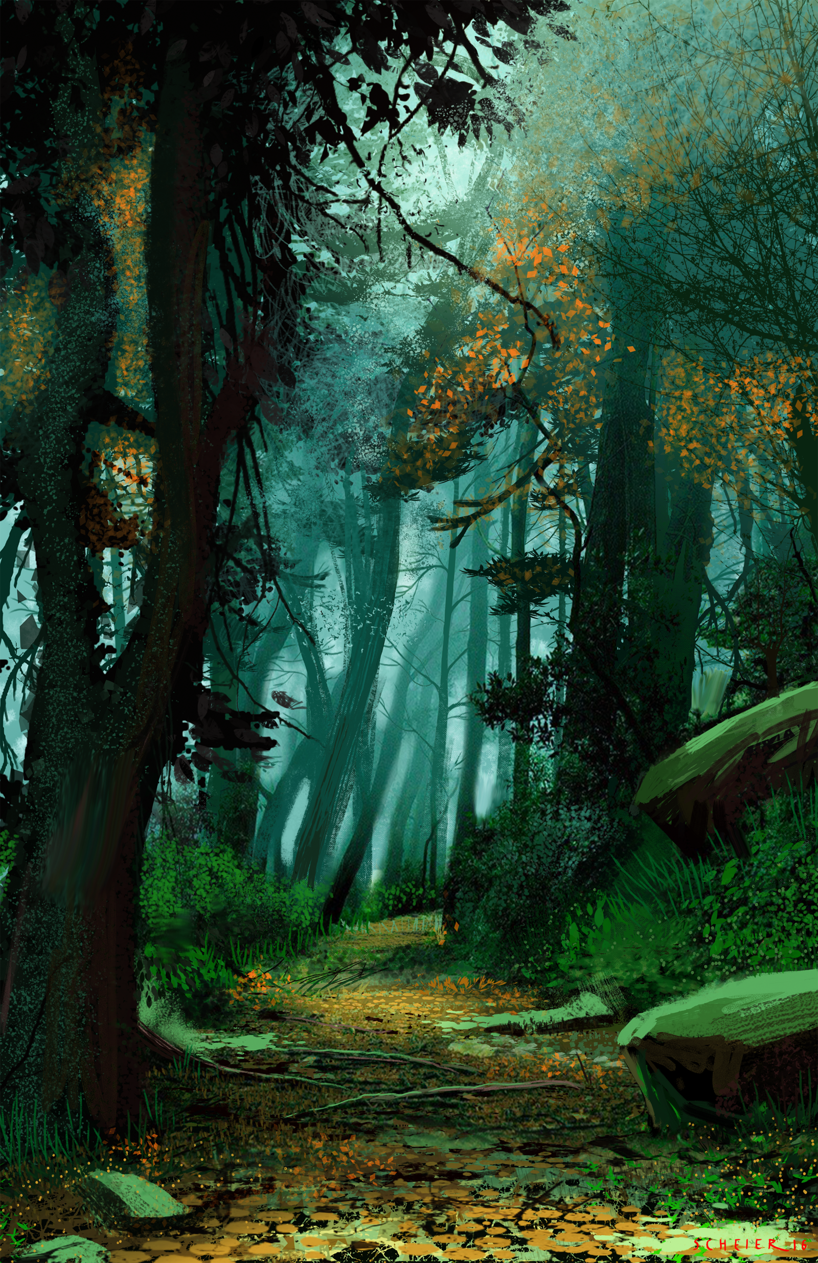 Jason Scheier Fantasy Art Landscapes Fantasy Landscape Forest Landscape