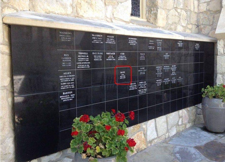 Ann B. Davis Is Buried In The Saint Helena'S Columbarium And