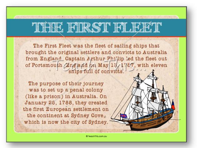 the first fleet journey poster