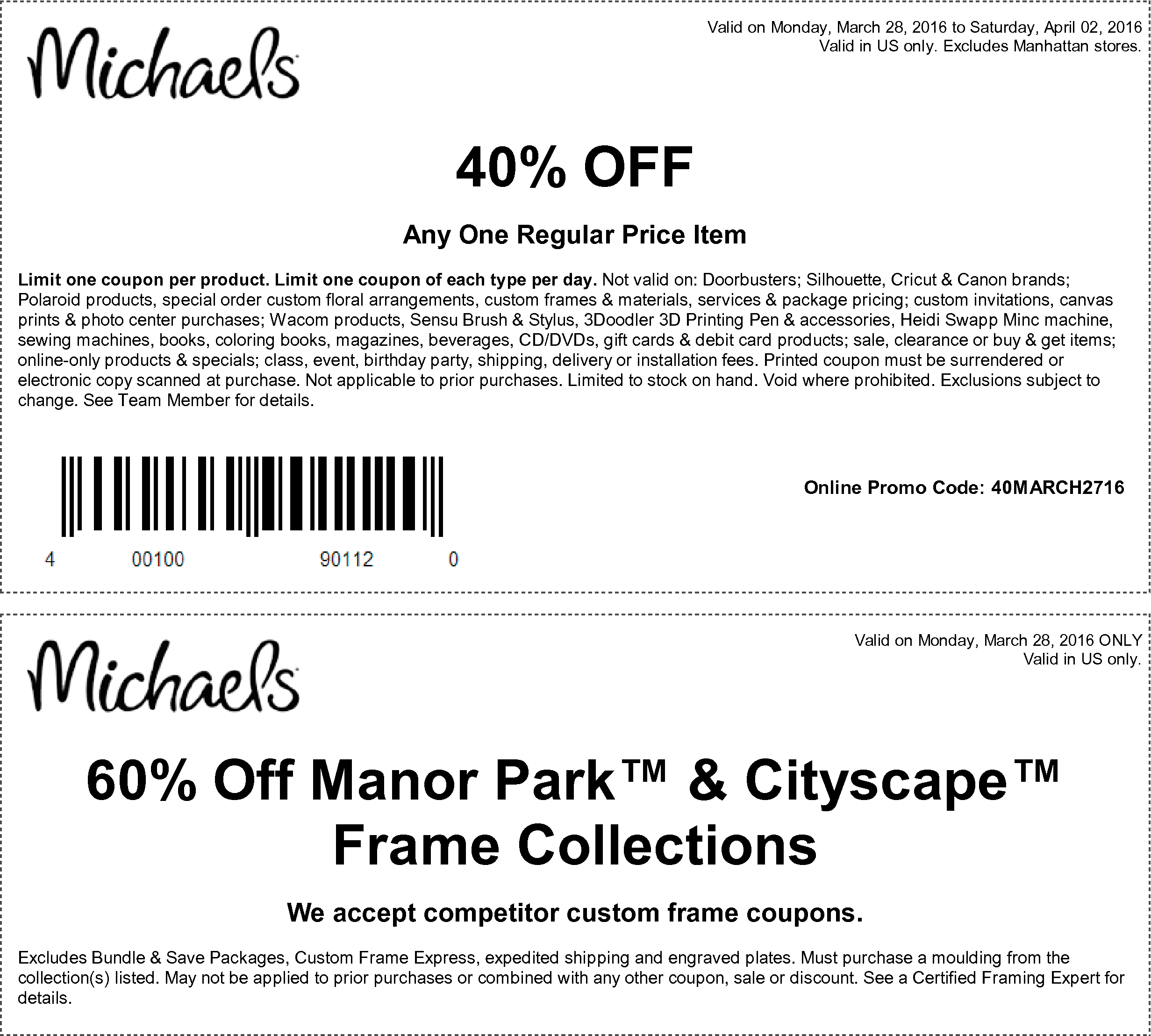 5d22cfec7bb Michaels coupon   Michaels promo code from The Coupons App. off a single  item and more at Michaels December