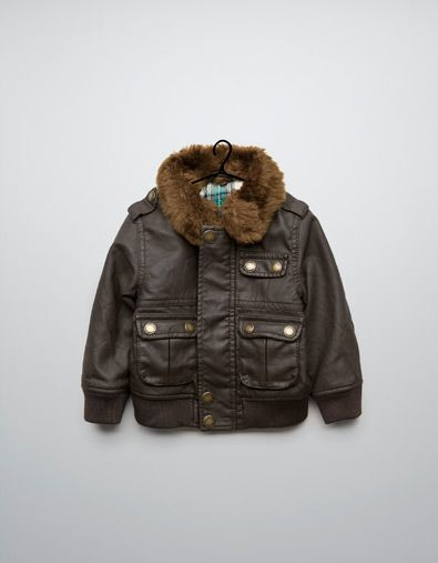 synthetic leather jacket - Coats - Baby boy (3-36 months) - Kids ...